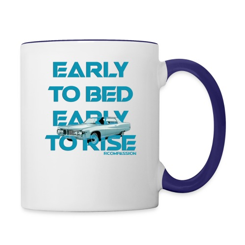 RCOMPASSION EARLY TO BED EXCLUSIVE TEE - Contrast Coffee Mug