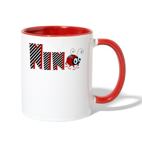 9nd Year Family Ladybug T-Shirts Gifts Daughter - Contrast Coffee Mug