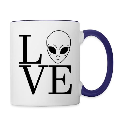 LOVE ALIEN - Contrast Coffee Mug