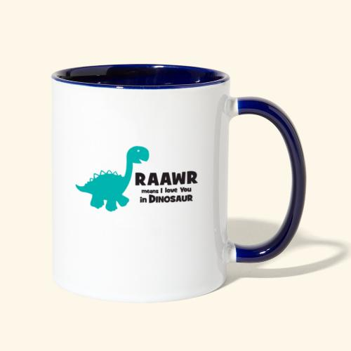 Dino RAAWR Means I Love You Tee - Contrast Coffee Mug