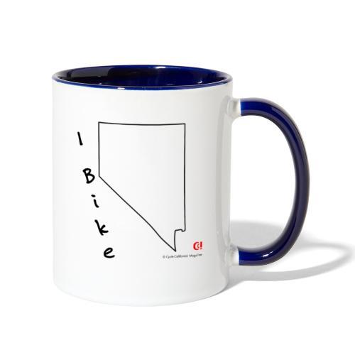 I Bike NV - Contrast Coffee Mug