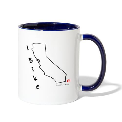 I Bike CA - Contrast Coffee Mug