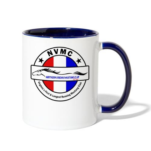 Circle logo on white with black border - Contrast Coffee Mug