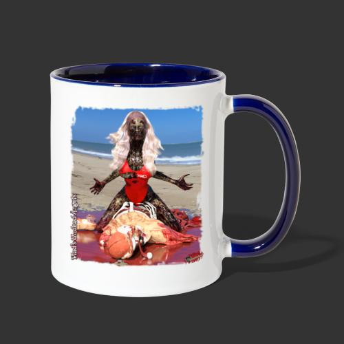 Undead Angels: Zombified Lifeguard Shay - Contrast Coffee Mug