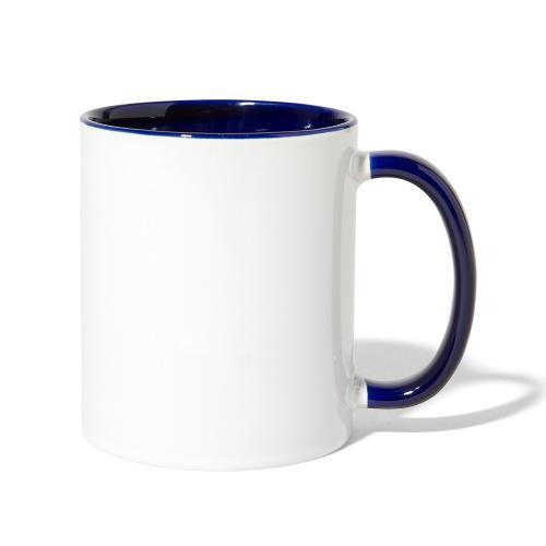 Work Harder distressed logo - Contrast Coffee Mug
