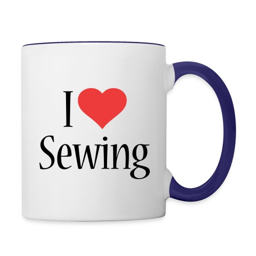 I Love Sewing - Contrast Coffee Mug