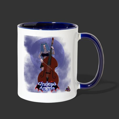 Undead Angels: Vampire Bassist Ashley Full Moon - Contrast Coffee Mug