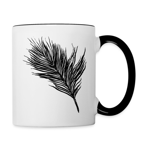 Delicate Feather - Contrast Coffee Mug
