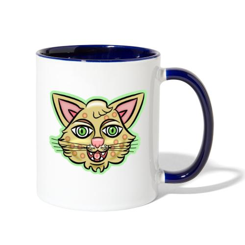 Happy Cat Gold - Contrast Coffee Mug
