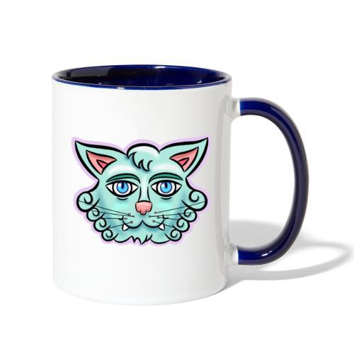 Happy Cat Teal - Contrast Coffee Mug
