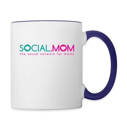 Social.mom Logo English - Contrast Coffee Mug