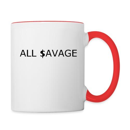 ALL $avage - Contrast Coffee Mug
