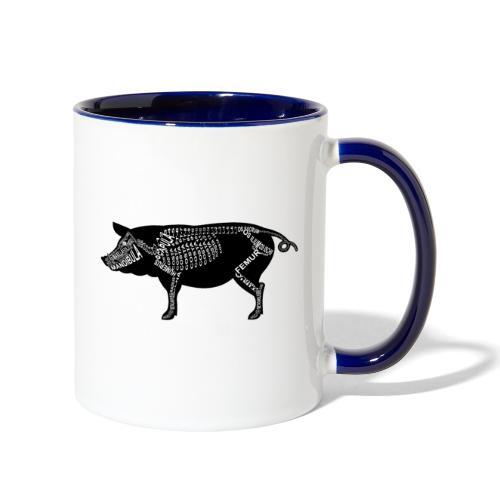 Skeleton Pig - Contrast Coffee Mug