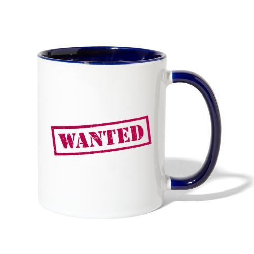 wanted - Contrast Coffee Mug