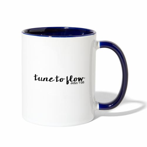 Tune to Flow - Design 1 - Contrast Coffee Mug