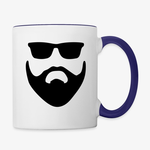 Beard & Glasses - Contrast Coffee Mug