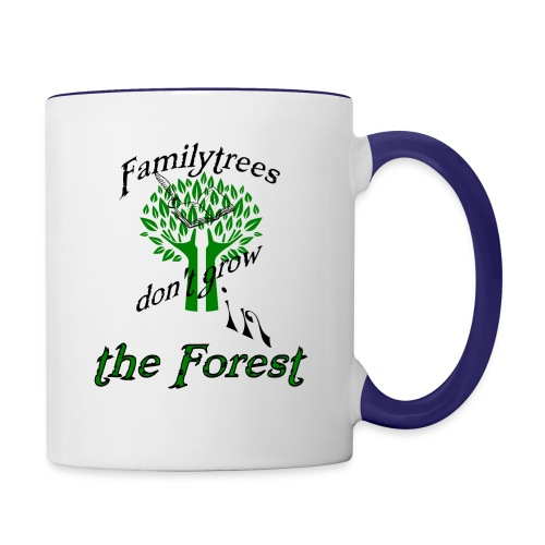 genealogy family tree forest funny birthday gift - Contrast Coffee Mug