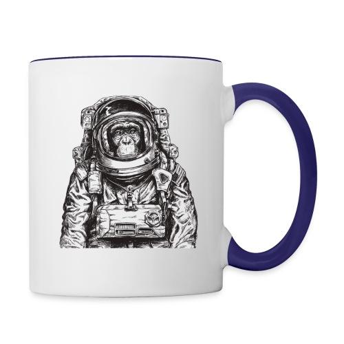 Monkey Astronaut - Contrast Coffee Mug