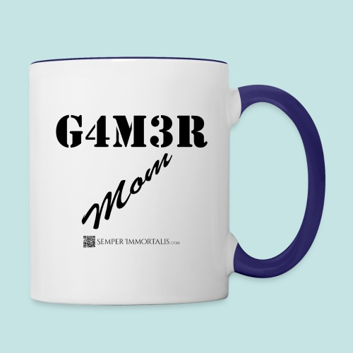 Gamer Mom (black) - Contrast Coffee Mug