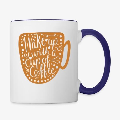Wake Up Coffee Cup Design - Contrast Coffee Mug