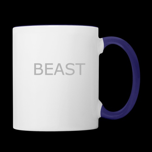 100% beast logo white - Contrast Coffee Mug