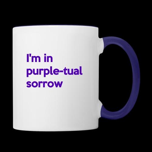 Purple-tual sorrow - Contrast Coffee Mug