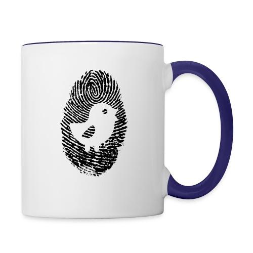 Chick Finger Print - Contrast Coffee Mug