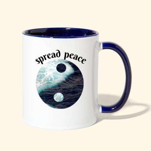 spread peace - Contrast Coffee Mug