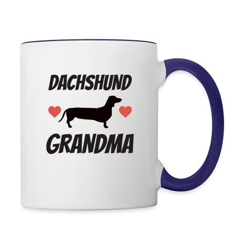 Dachshund Grandma - Contrast Coffee Mug