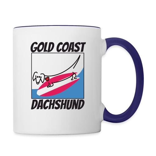 Gold Coast Dachshund - Contrast Coffee Mug