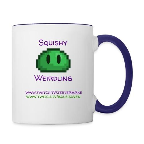 Green Squishy with addresses & white splash - Contrast Coffee Mug