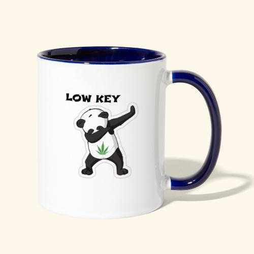 LOW KEY DAB BEAR - Contrast Coffee Mug