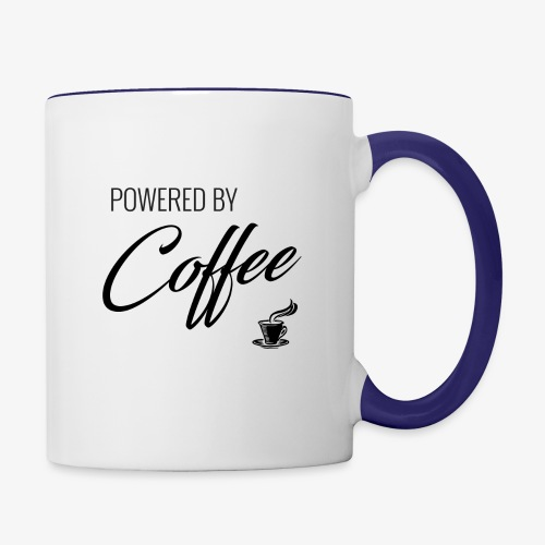 Powered by Coffee - Contrast Coffee Mug