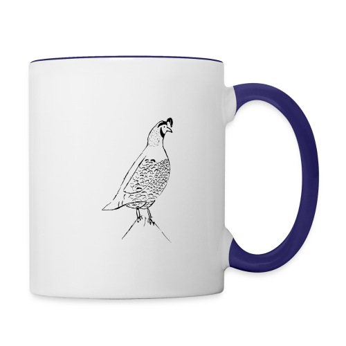 California Quail - Contrast Coffee Mug