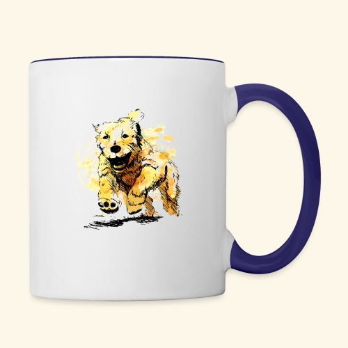 oil dog - Contrast Coffee Mug