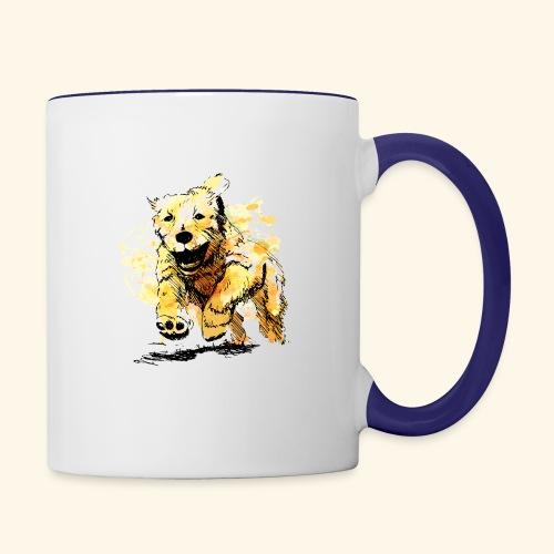 oil dog - Contrast Coffee Mug