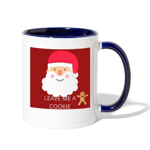 Santa Leave Me A Cookie - Contrast Coffee Mug