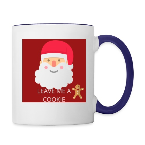 Santa Leave Me A Cookie - Contrast Coffee Mug
