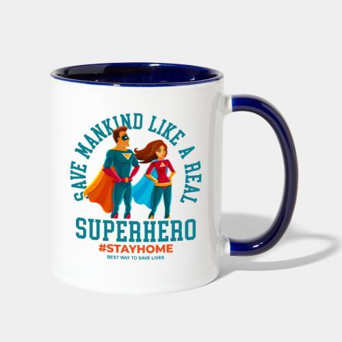 stay home save lives - Contrast Coffee Mug