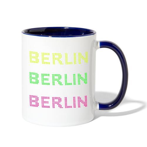 Berlin dots-font - Contrast Coffee Mug