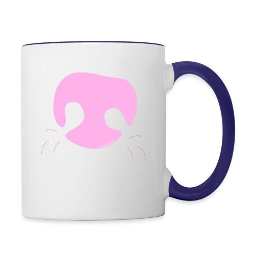 Pink Whimsical Dog Nose - Contrast Coffee Mug
