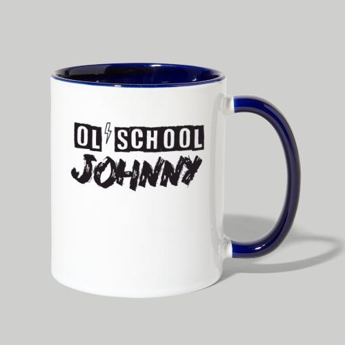 Ol' School Johnny Logo - Black Text - Contrast Coffee Mug