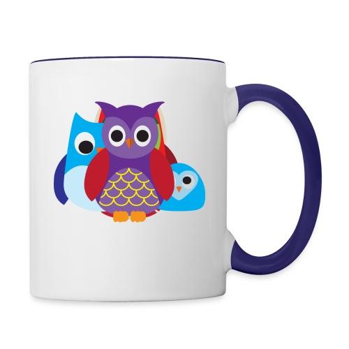 Cute Owls Eyes - Contrast Coffee Mug