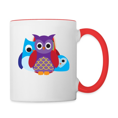 Cute Owls Eyes - Contrast Coffee Mug