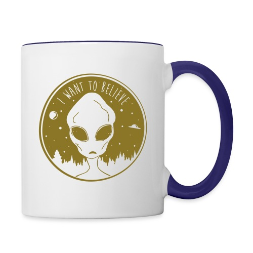 I Want To Believe - Contrast Coffee Mug
