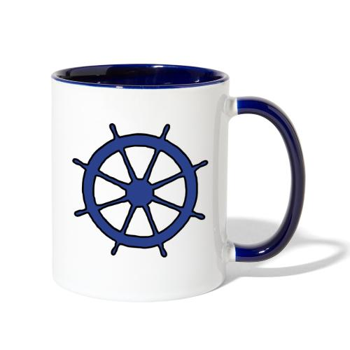 Steering Wheel Sailor Sailing Boating Yachting - Contrast Coffee Mug