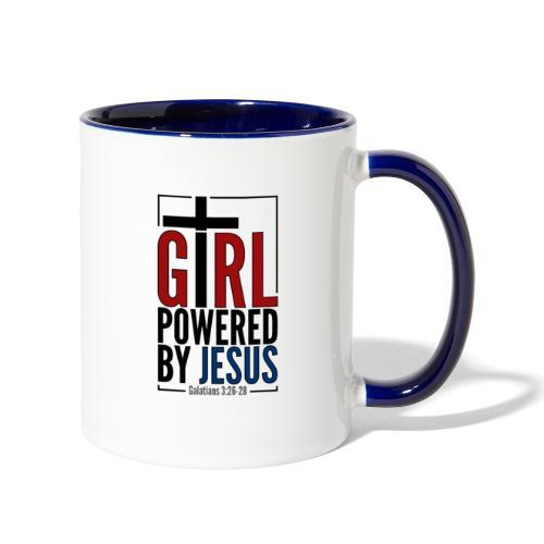 Girl Powered By Jesus | #GirlPoweredByJesus - Contrast Coffee Mug