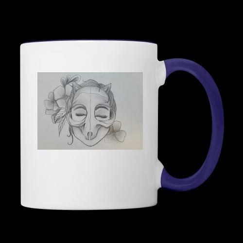 Masked Girl - Contrast Coffee Mug