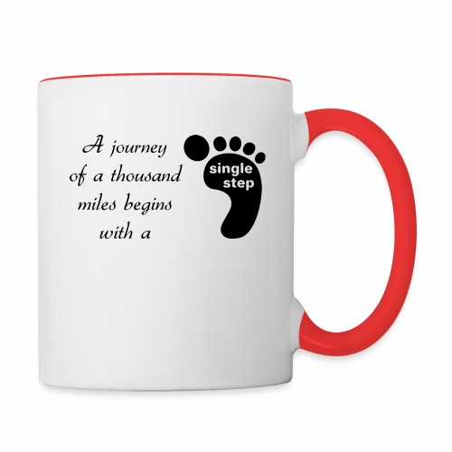 Single Step - Contrast Coffee Mug