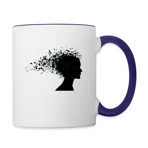 music through my head - Contrast Coffee Mug